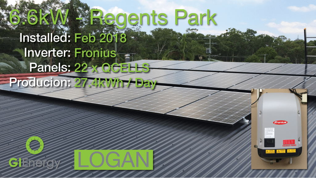 Logan - Regents park solar installation 1