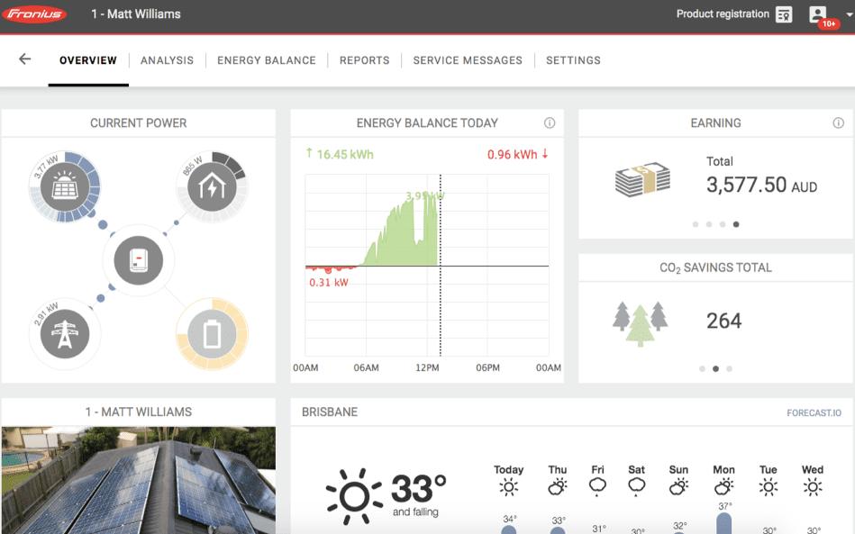 Portal Fronius Solar Web