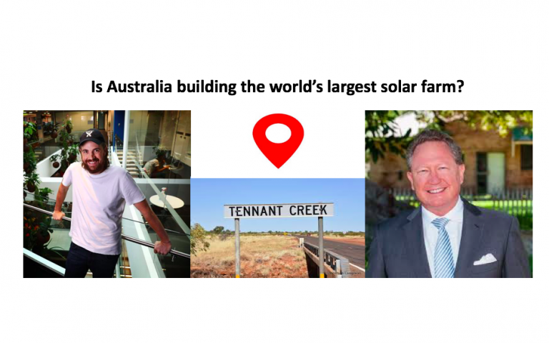 Is Australia building the world's largest solar farm?