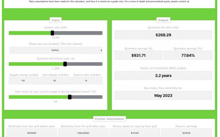 Introducing our new solar calculator