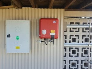 One of our recent SMA Sunny Boy installs