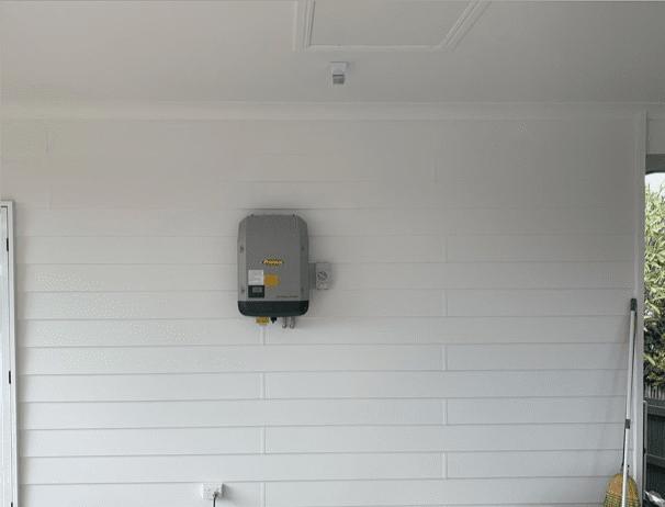 Solar inverter installed outside