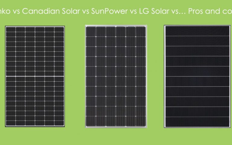 Jinko vs Canadian Solar vs LG Solar vs SunPower vs … Pros and Cons!