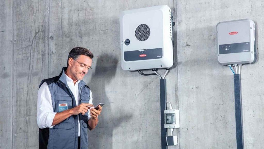 solar inverter installed inside