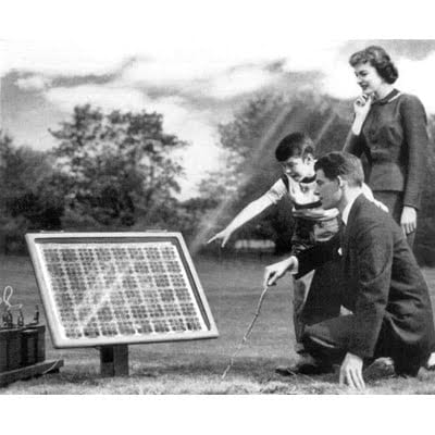 Solar panels were invented in America
