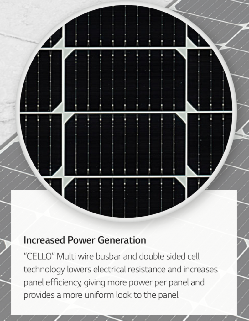 LG neon H solar N type cell