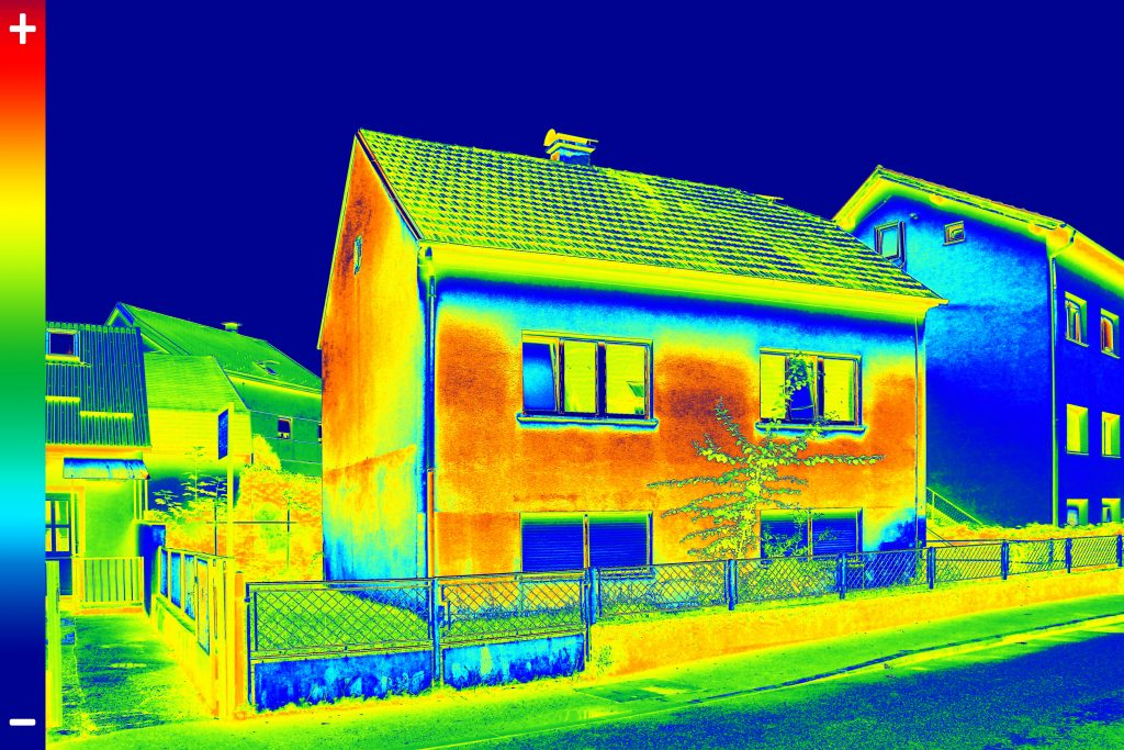 house cooled with solar panels