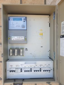 Switchboard with three phase power